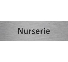 """Plaque de porte en alu ou pvc gravé """"nurserie"""", plusieurs couleurs"""