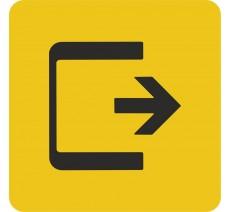 """Pictogramme en relief logo """"Sortie"""", 5 coloris au choix"""