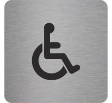 """Pictogramme en relief """"Toilettes Handicapés"""", 5 coloris au choix"""