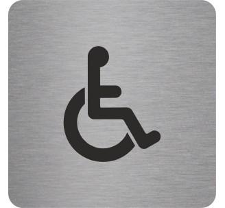"""Pictogramme en alu en relief """"Toilettes Handicapés"""""""