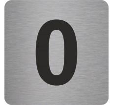 """Pictogramme en relief """"0"""", 5 coloris au choix"""