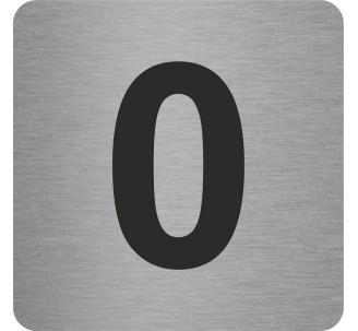 """Pictogramme en alu en relief """"0"""""""