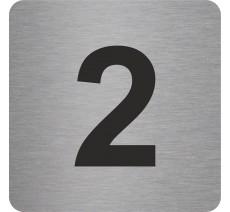 """Pictogramme en relief """"2"""", 5 coloris au choix"""