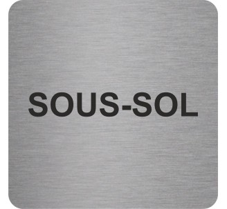 "Pictogramme en alu en relief ""Sous-sol"""