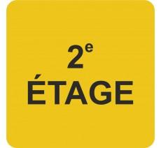 """Pictogramme en relief """"2e ETAGE"""", 5 coloris au choix"""