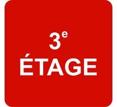 """Pictogramme en relief """"3e ETAGE"""", 5 coloris au choix"""