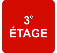 "Pictogramme en alu en relief   ""3e ETAGE"""