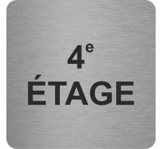 """Pictogramme en relief """"4e ETAGE"""", 5 coloris au choix"""