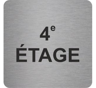 "Pictogramme en alu en relief ""4e ETAGE"""