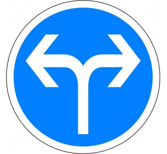 """Kit ou panneau  seul type routier """"Directions obligatoires à la prochaine intersection, à gauche ou à droite"""" ref: B21d1"""