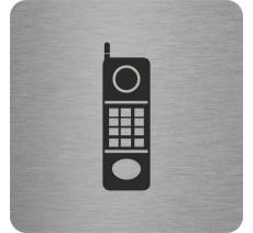 "Pictogramme en alu en relief  ""Téléphone"""