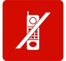 """Pictogramme en relief  """"Téléphones interdits"""", 5 coloris au choix"""
