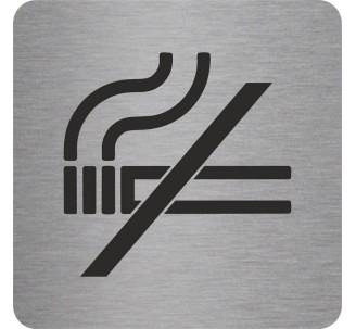 "Pictogramme en alu en relief  ""Défense de fumer"""