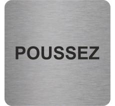 """Pictogramme en relief """"Poussez"""", 5 coloris au choix"""