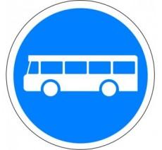 """Kit ou panneau seul type routier """"Voie réservée aux transports en commun"""" ref: B27"""