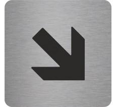 """Pictogramme en relief """"Flèche"""" en bas vers la droite, 5 coloris au choix"""