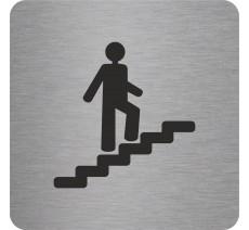 """Pictogramme en relief """"Escalier"""" montant, 5 coloris au choix"""