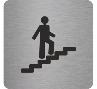 "Pictogramme en alu en relief ""Escalier"" montant"