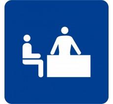 "Pictogramme en alu en relief logo ""Bureau"""