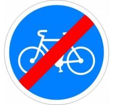 """Kit ou panneau seul type routier """"Fin de piste obligatoire pour cycles"""" ref: B40"""