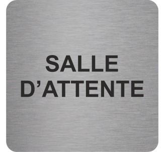 "Pictogramme en alu en relief ""Salle d'attente"""