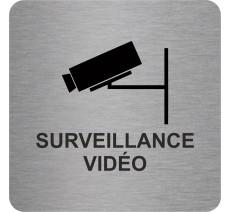 """Pictogramme en relief """"Surveillance vidéo"""", 5 coloris au choix"""