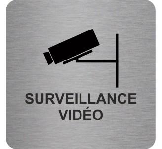 """Pictogramme en alu en relief """"Surveillance vidéo"""""""