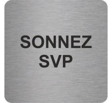 """Pictogramme en relief """"Sonnez SVP"""", 5 coloris au choix"""