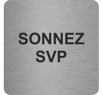 "Pictogramme en alu en relief ""Sonnez SVP"""