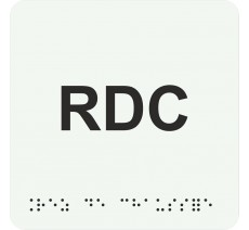 """Picto avec braille et relief """"RDC"""", 5 coloris au choix"""