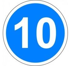 """Kit ou panneau seul type routier """"Vitesse minimale obligatoire - 10kmh"""" ref: B25"""