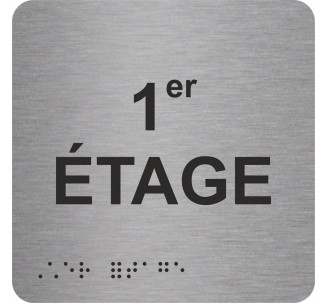 """Picto alu avec braille et relief """"1er ETAGE"""""""