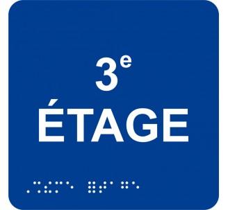 "Picto alu avec braille et relief ""3e ETAGE"""