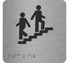 """Picto avec braille et relief """"Escalier"""", 5 couleurs au choix"""