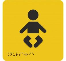 """Picto avec braille et relief """"Nurserie"""", 5 coloris au choix"""