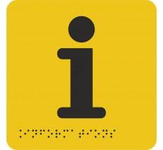 """Picto avec braille et relief """"Information"""", 5 coloris au choix"""