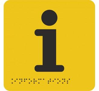 """Pictogramme en alu avec braille et relief """"Information"""""""