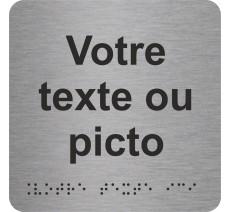 """Picto avec braille et relief """"Votre texte ici"""", 5 coloris au choix"""