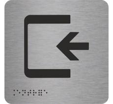 """Picto avec braille et relief logo """"Entrée"""", 5 couleurs au choix"""