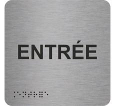 """Picto avec braille et relief """"Entrée"""", 5 couleurs au choix"""