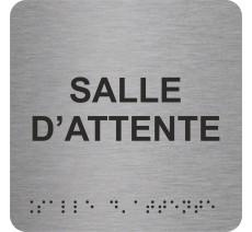 """Picto avec braille et relief """"Salle d'attente"""", 5 couleurs au choix"""