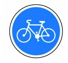 """Kit ou panneau seul type routier """"Piste obligatoire pour les cycles"""" ref: B22a"""