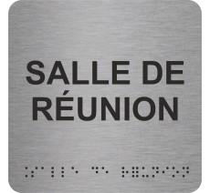 """Picto avec braille et relief """"Salle de réunion"""", 5 couleurs au choix"""