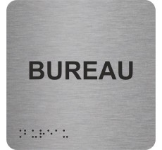 """Picto avec braille et relief """"Bureau"""", 5 couleurs au choix"""