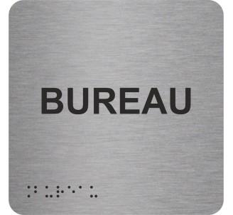 """Picto alu avec braille et relief """"Bureau"""", 5 couleurs au choix"""