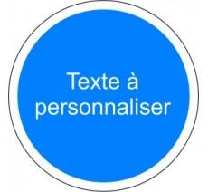 """Kit ou panneau seul type routier """"Obligation - texte personnalisé"""""""