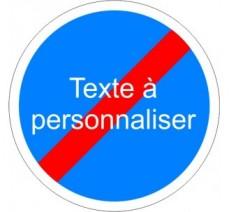 """Kit ou panneau seul type routier """"Fin d'obligation - texte personnalisé"""""""