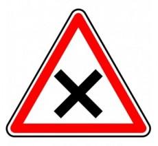"""Kit ou Panneau type routier """"Intersection - priorité à droite""""  ref:AB1"""