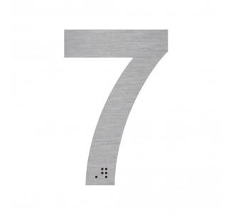 """Chiffre """"7"""" + braille en alu découpé"""