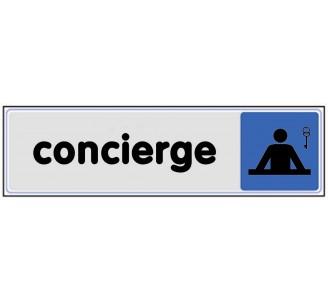 Plaque de porte plexi couleur Concierge